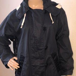 J. Crew Jackets & Coats - J. Crew Rain Jacket Women's Navy Blue Small, Mid